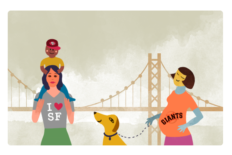 Bold&Italic - Worst Baby Names for San Franciscans - Editorial Illustration by ChiChiLand