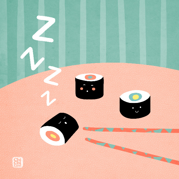 Napping Sushi: ChiChiLand Everyday Project #120