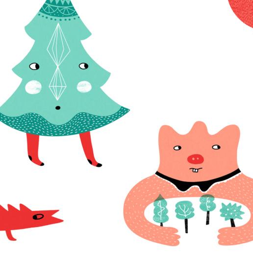Happy Winter Friends by ChiChiLand: Detail 1