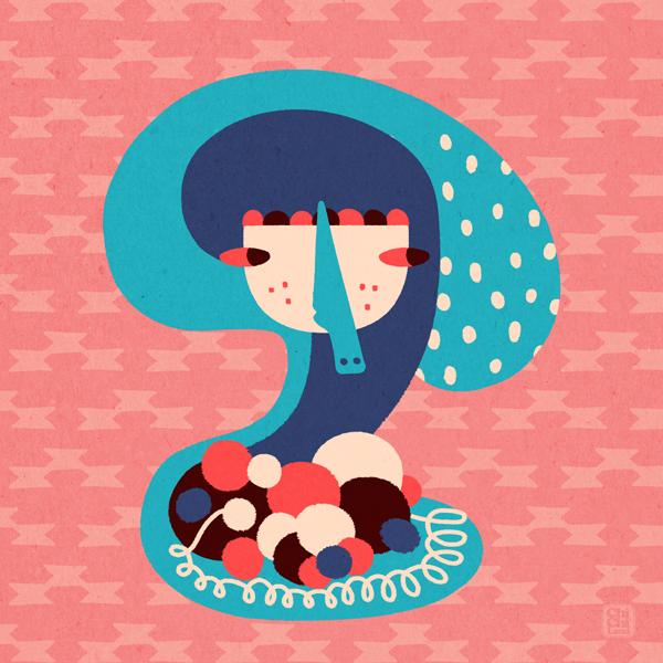 Fluffy Yarns on a Rainy Day by ChiChiLand