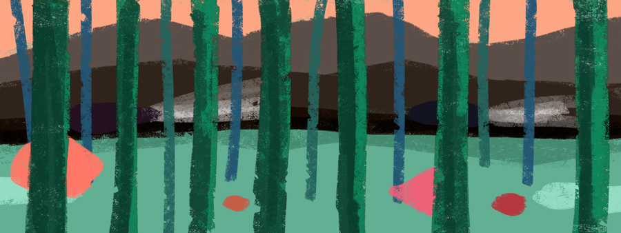 Color Study for Sunset Forest by ChiChiLand