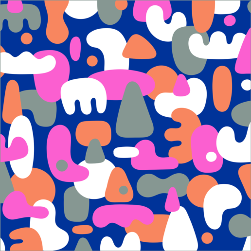 Happy Blob Pattern by ChiChiLand